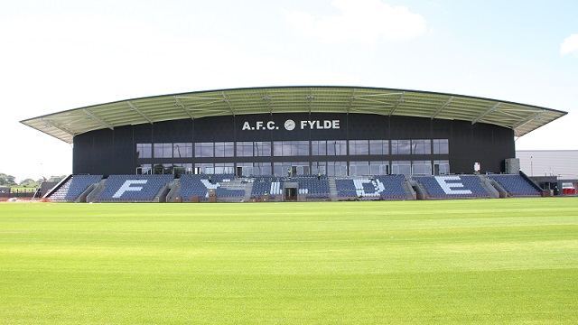 AFC Fylde's New Stadium at Mill Farm Sports Village Wesham Preston